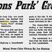 Lyons Park Grows Article