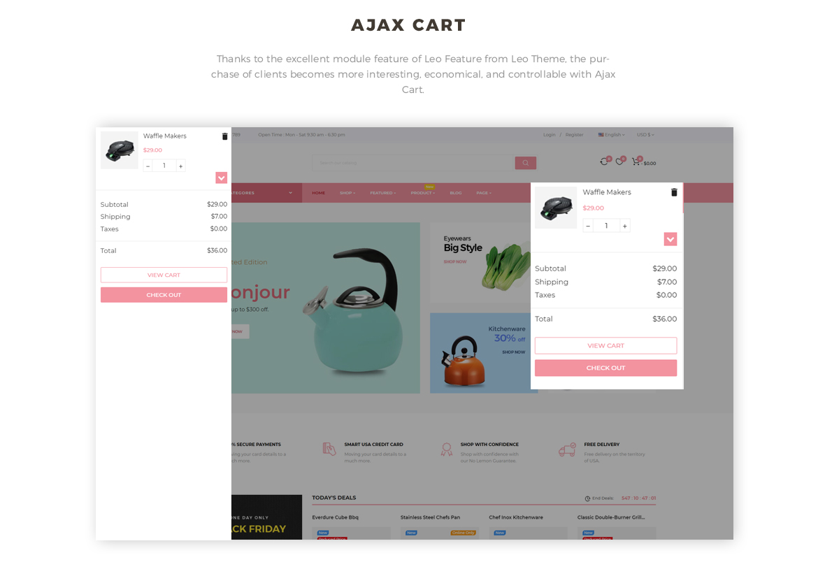 ajax add to cart - Prestashop 1.7 theme for kitchenware retail store websites