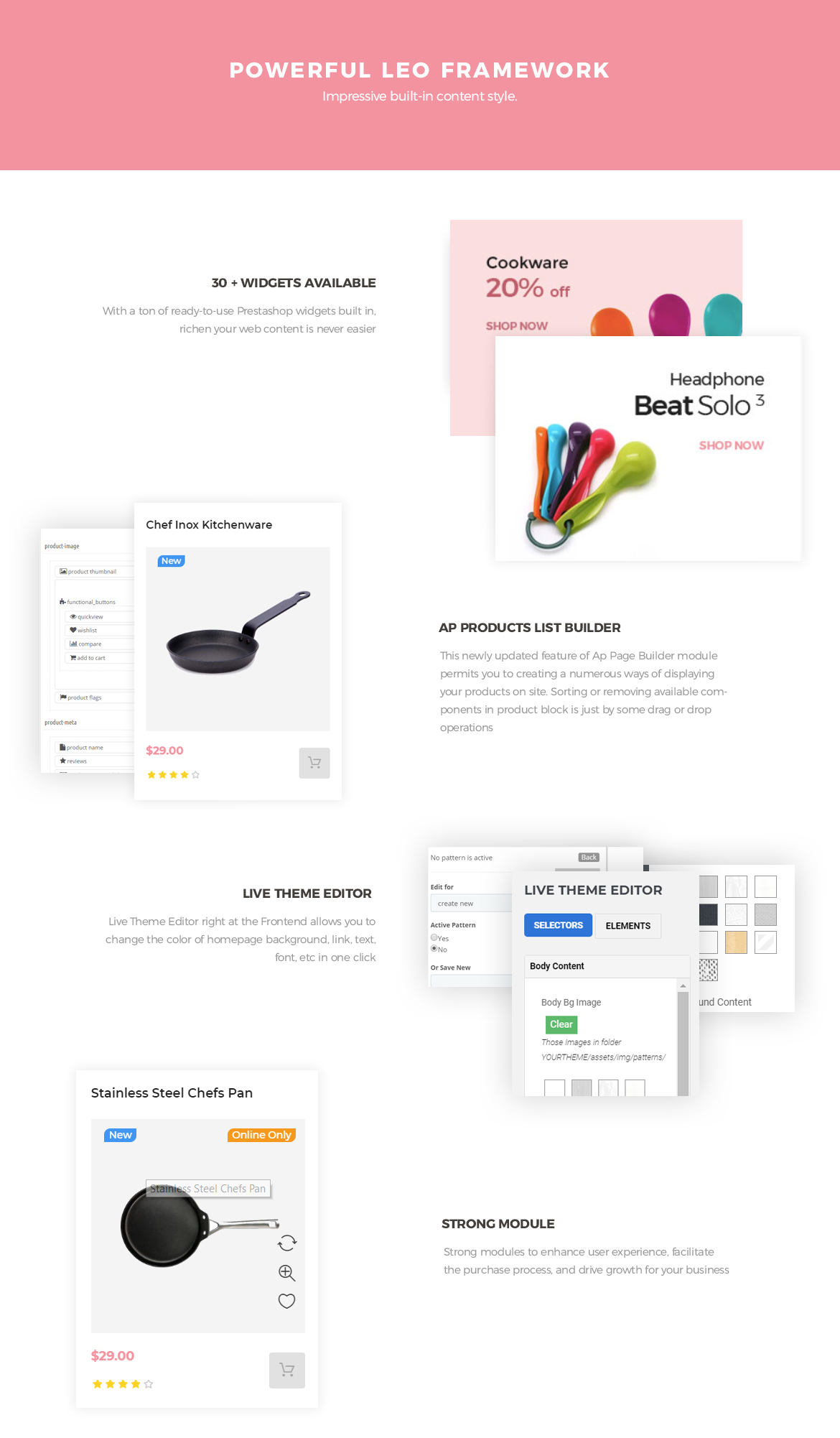 powerful prestashop framework - Leo Uniware Prestashop Theme - Kitchen Tool, Cookware, Kitchenware