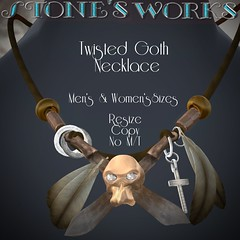 Twisted Goth Necklace Stone's Works