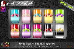 [ S H O C K ] Lovely Nails - OMEGA & SLINK Appliers (GROUP GIFT)