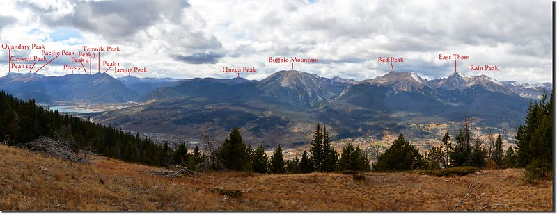 Looking southwest at Tenmile & Gore Ranges from Ptarmigan Peak Trail near 11,460 ft (1)_副本