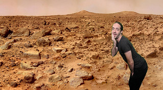 Meow posing on the Martian surface