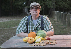 Jack Rusak with Fruit and Melons