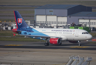 OM-BYK, Airbus A319-115 Slovak Government @ Brussels BRU EBBR