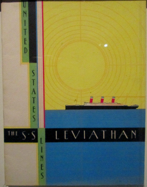 United States Lines Brochure,  Ocean Liners Exhibition, V&A, Dundee