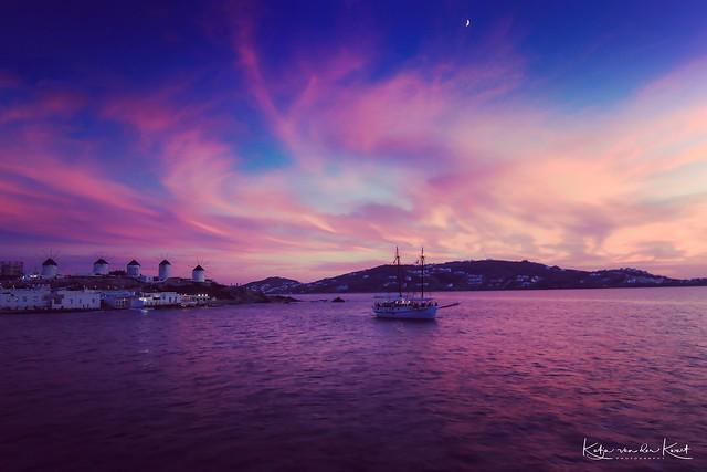 Blue hour at Mykonos