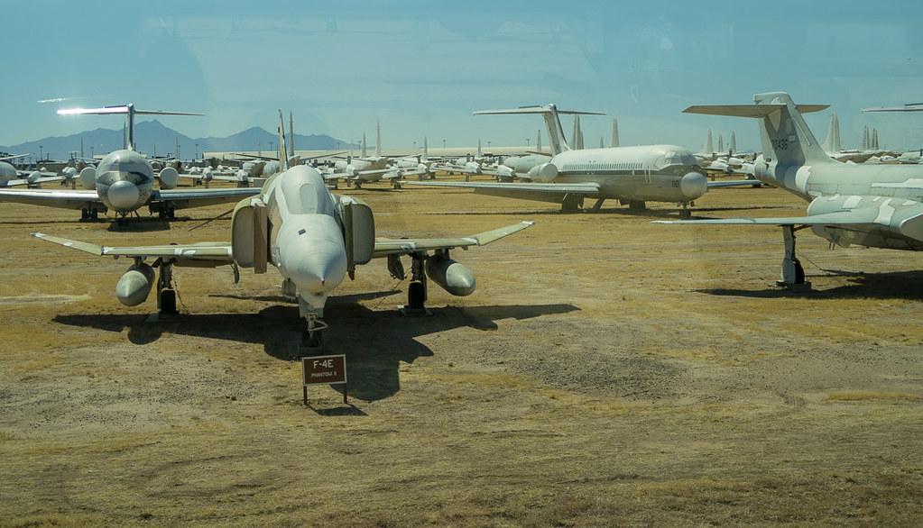 Retired Aircraft on Boneyard Tour