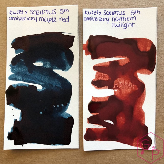 Scriptus Toronto Writing Show 2018 Inks - Maple Red & Northern Twilight! 24