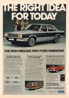 1980 Ford Fairmont Advertisement Time Magazine November 12 1979