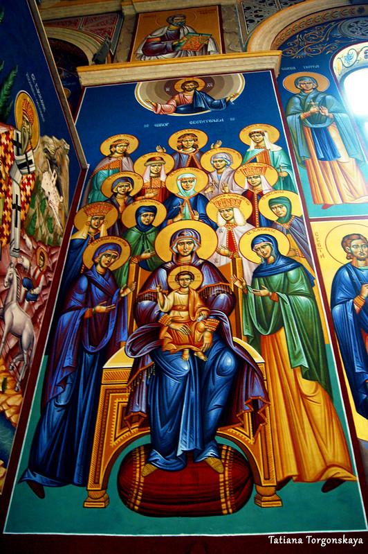 Изображения на стене собора Св. Преображения