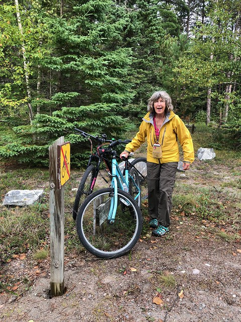 Lake Superior Park bicycle trail end