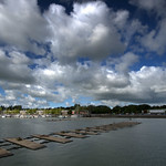 Clouds over Preston Docks