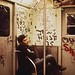 The joy of commuting on the subway in the mid 1970s. One of less inspirational places in Manhattan. Crime, graffiti, loud screeching noises, utter depersonalization, the smell of electricity and urine. New York. Sept 1974 by wavz13