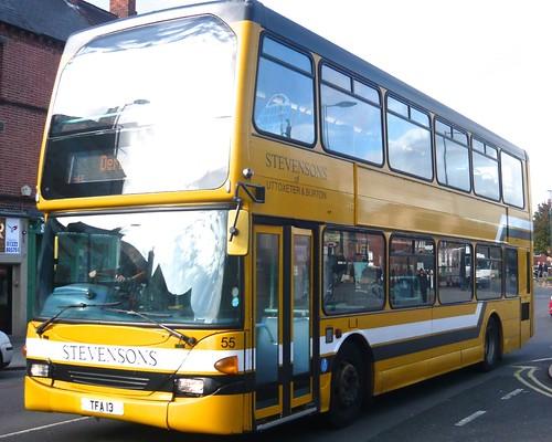 TFA 13 'Midland Classic' No.55, 'Stevensons of Uttoxeter & Burton'. Scania N94UD / East Lancs on Dennis Basford's railsroadsrunways.blogspot.co.uk'