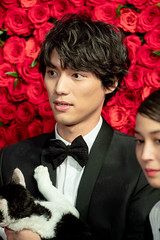 """Fukushi Sota from """"The Travelling Cat Chronicles"""" at Opening Ceremony of the Tokyo International Film Festival 2018"""