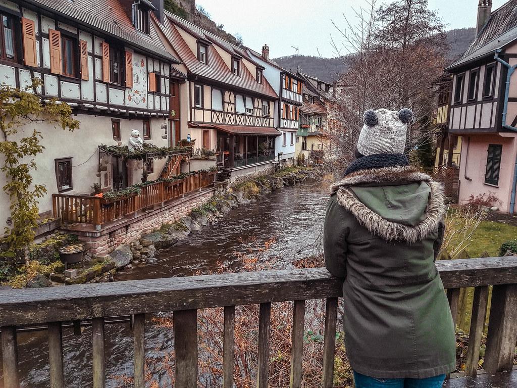 · Riquewihr, parada de nuestro viaje en coche por Alsacia en Navidad ·