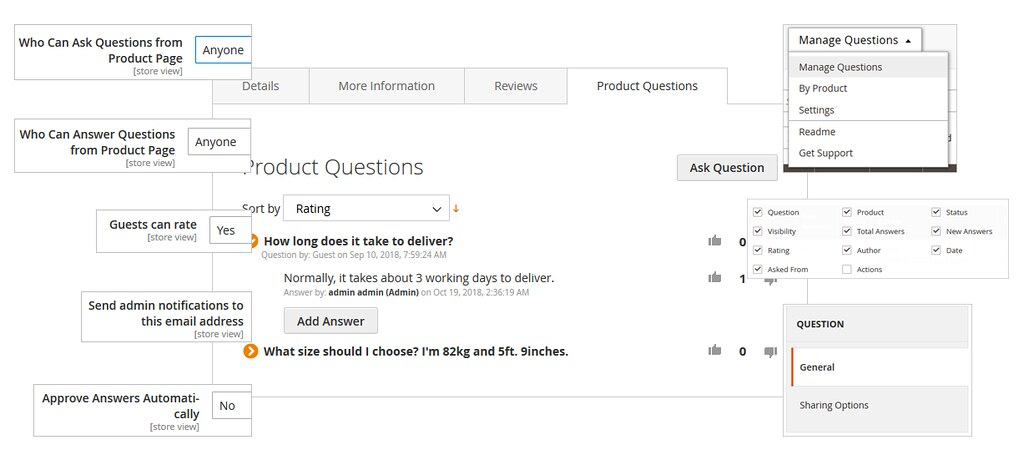 Magento 2 Product Questions