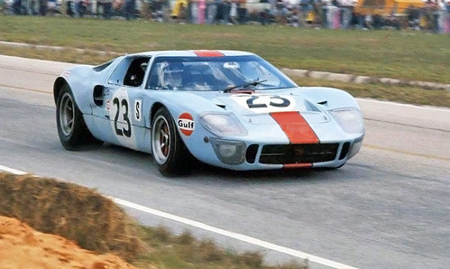 Gulf Ford GT40 at Sebring in 1969.