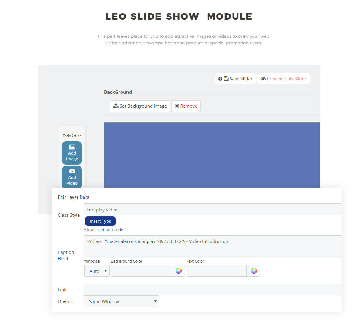slideshow module - shoes and fashion theme