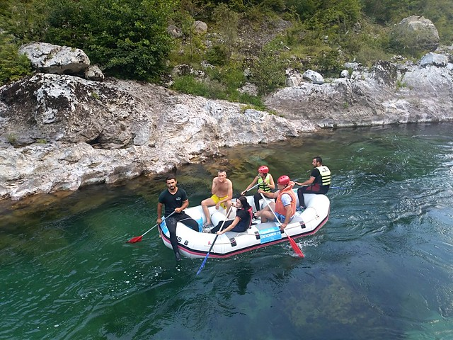 Water rafting on the Neretva river