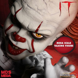 """Time to float."" MEZCO It (2017) Pennywise 15"" Mega Scale Talking Figure!"
