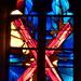 Ruffec, Charente: église paroissiale Saint-André, vitrail de Vivian Oel, peintre, sculpteur et maître verrier, 1973. by Marie-Hélène Cingal