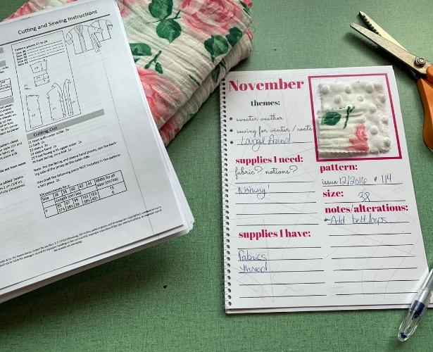 Burda Challenge November Planner