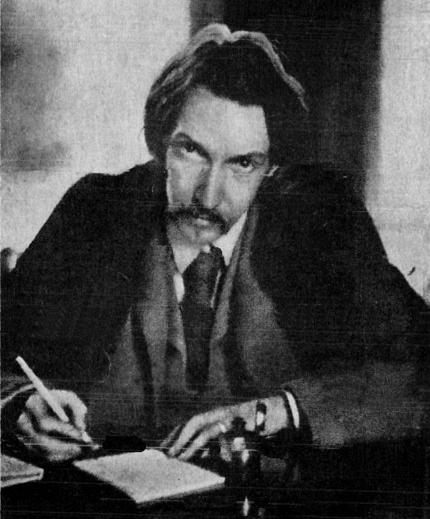 Photograph of Robert Louis Stevenson by Lloyd Osbourne, 1885.