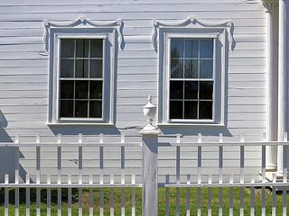 Tilting windows, the Ruggles House (1818-20), Columbia Falls, Maine, USA