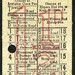 ticket - london transport route 54 threehalfpence