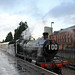 2857 at a very wet Kidderminster Station