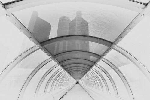 Tunnel View - Renaissance Center - Detroit, Michigan