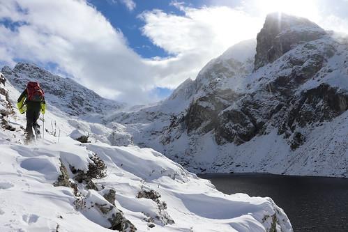 Traversée au dessus du Lac du Crozet (1 986 m)