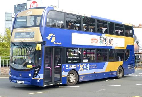 YX66 WKJ 'First West Yorkshire' No. 33486, 'X84 Wharfedale Connection'. 'ADL' E40D / 'ADL' Enviro 400MMC on Dennis Basford's railsroadsrunways.blogspot.co.uk'