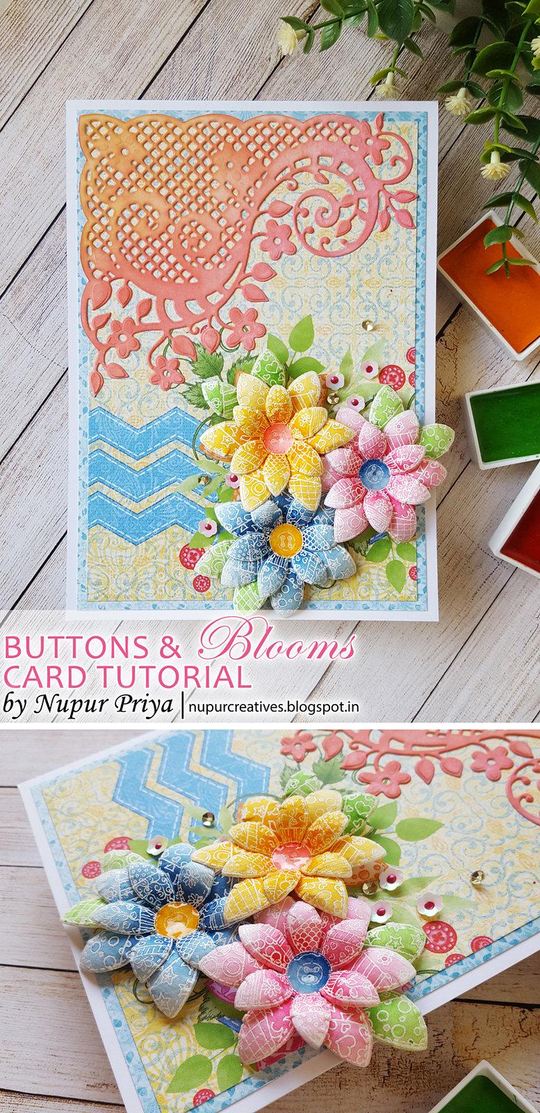Buttons & Blooms Card Tutorial pinterest