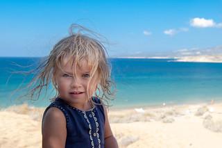 Girl on the sea.