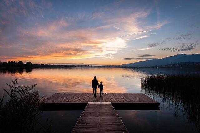 Sunset at the lake, Nikon D700, AF-S Nikkor 16-35mm f/4G ED VR