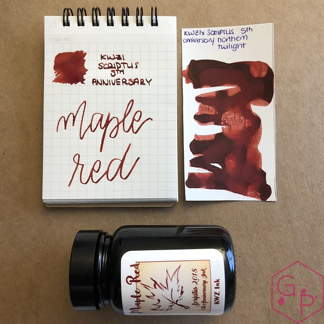 Scriptus Toronto Writing Show 2018 Inks - Maple Red & Northern Twilight! 44