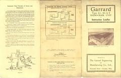 Garrard Type A B E Leafletb