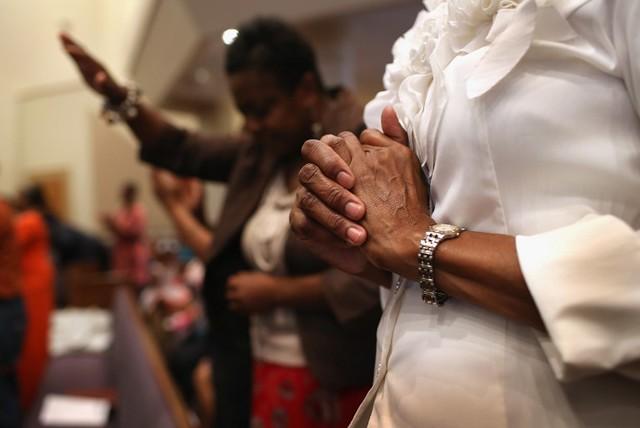 """Grupos como a """"Frente de Evangélicos pelo Estado de Direito"""", """"OAmor Venceo Ódio"""" e """"Evangélicos Contra Bolsonaro"""" ganham forçano país - Créditos: Foto: John Moore/ Getty Images/AFP"""