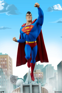一飛沖天的氪星之子!! Sideshow Collectibles DC The Animated Series【超人】Superman 全身雕像作品