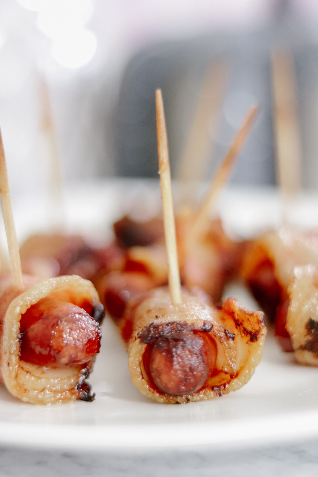 Bacon Wrapped Sausage Appetizer for Hosting During the Holidays #HolidaysAtSam'sClub