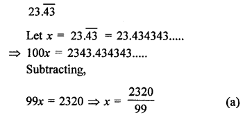 RD Sharma Class 9 Maths Book Questions Chapter 1 Number System