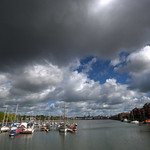 Moody clouds over Preston Docks