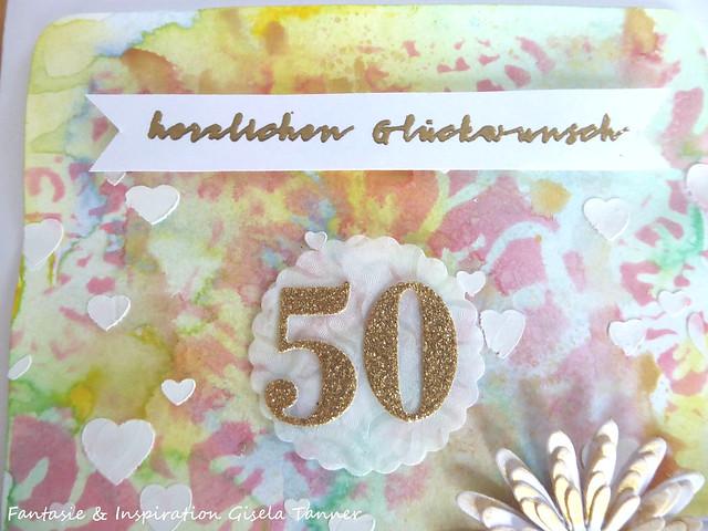 Glückwunschkarte zur Goldenen Hochzeit