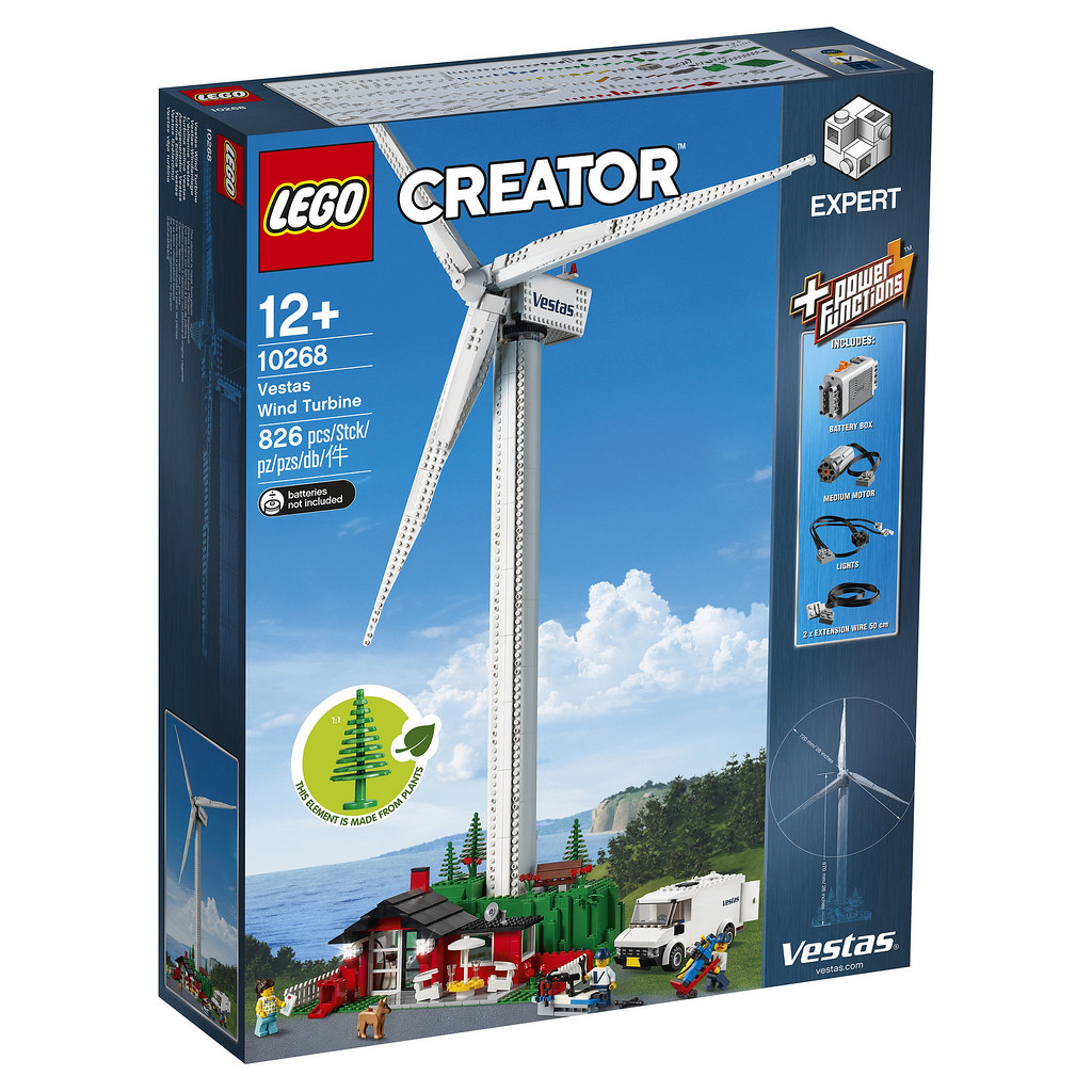 100 cm of Power! LEGO 10268 Creator Expert Vestas Wind Turbine