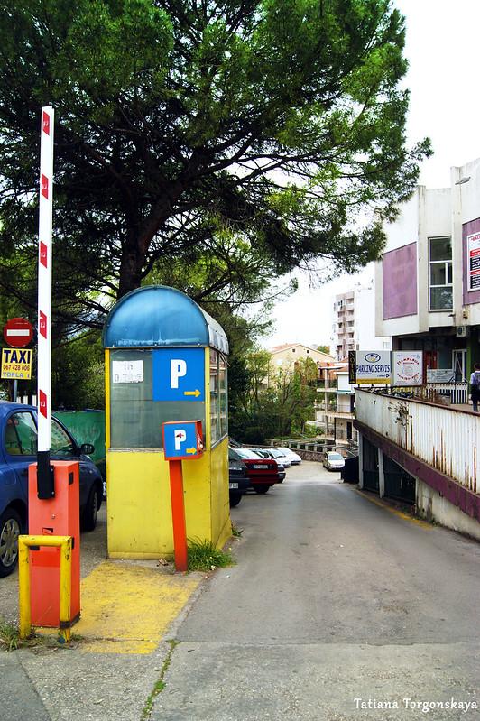 Автостоянка в районе Топла в Херцег Нови