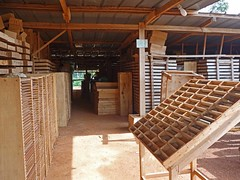 The exploration drill core is stored in a facility in the exploration offices, in Agbahou village