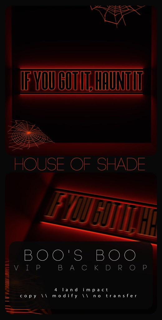 House of Shade – Boo's Boo VIP Backdrop